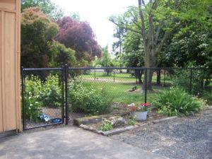 black chain link fence & gate in jefferson