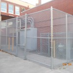 324-COM-chain link enclosure @ Richmond School, Salem, Oregon