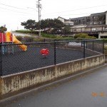 321-Commercial chain link fence @ playground, Lincoln City, Oregon