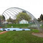 319-COM-chain link fence @ Baseball field