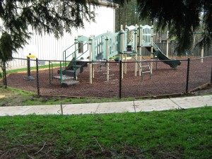 312-Chain link fence & gate-Playground @ A Family Place, Newberg, Oregon