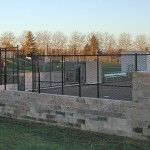 310- tennis court black chain link fence