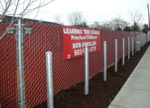 309-COM pre slat chain link fence