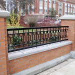 307-COM. custom ornamental iron fence, OSU, Corvallis, Oregon