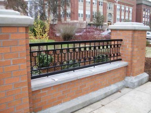 307-COM. custom ornamental iron fence, OSU, Corvallis, Oregon