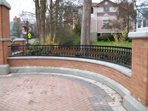 306-COM. custom ornamental iron fence, OSU, Corvallis, Oregon