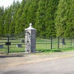 304-COM. ornamental iron fence & gate, Amity, Oregon