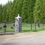 304-COM. ornamental iron fence & gate, Amity, Oregon