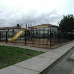 303-Commercial ornamental iron fence - playground