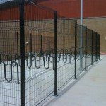 294-Commercial, Woven Wire w/bike racks