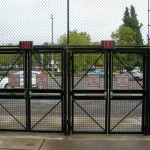 290-Commercial Custom security fence & gates