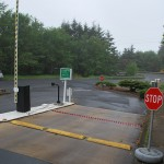 286-COM Barrier arm gate w/operator, Newport, Oregon