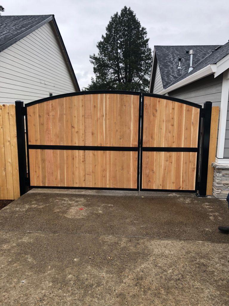 Residential Gate In Salem Oregon Outdoor Fence