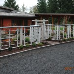 263 Custom wood fence & arbor w/gate, Dallas, Oregon