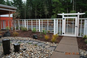 262 Custom wood fence & arbor w/gate, Dallas, Oregon