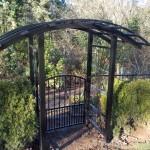 259 Custom ornamental iron Arbor w/gate
