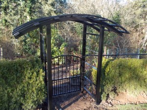 259 Custom ornamental iron Arbor w/gate