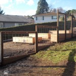 257 Custom Wood & wire garden fence, Salem, Oregon