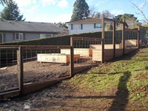 257 Custom Wood & wire garden fence, Salem, Oregon