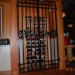 247 custom ornamental iron wine gate, Silver Falls Convention Center