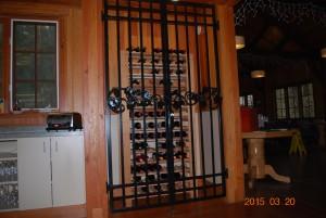 247 custom ornamental iron wine gate, Silver Falls Convention Center