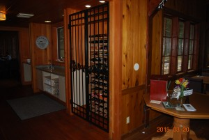 246 custom ornamental iron wine gate, Silver Falls Convention Center