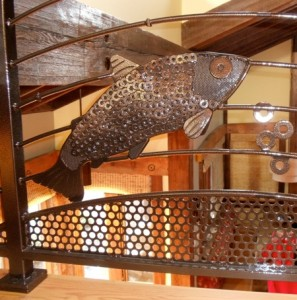 234 Custom ornamental iron railing w/mill parts, Neskowin, Oregon