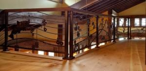 33 Custom ornamental iron railing w/mill parts, Neskowin, Oregon