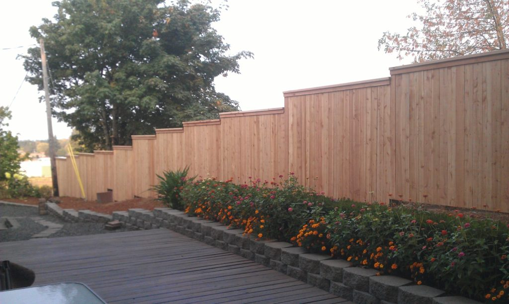 wood privacy fence with trim in albany