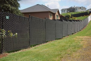 221 Pre slat 95% privacy chain link fence