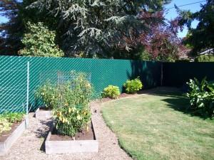 216 Pre slat 95% privacy chain link fence, Salem, Oregon