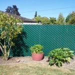 215 Pre slat 95% privacy chain link fence, Salem, Oregon