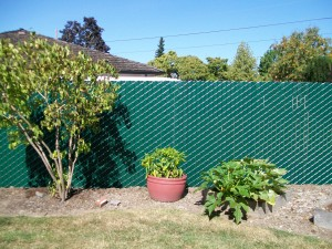215 Pre slat 95% privacy chain link fence, Salem, Oregon