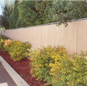 217 pre-slat 95% privacy chain link fence