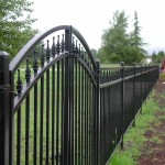214 Ornamental iron fence w/gate detail