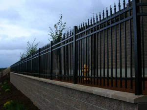 213 Commercial ornamental iron fence