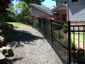 202 Design A-3 Ornamental Iron fence, Newport, Oregon