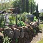 209 Ornamental iron fence/garden