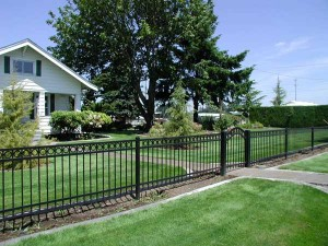 206 ornamental iron fence w/walk gate, Salem