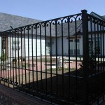 205 Custom courtyard ornamental iron fence