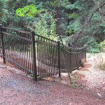200 Ornamental iron fence Design C6 hillside