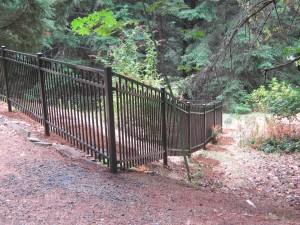200 Ornamental iron fence Design C6 hillside