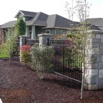 196 Ornamental Iron fence panel