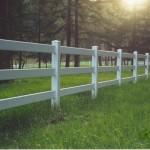 190: 3-rail vinyl fence