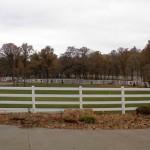 187: 4-rail white vinyl fence