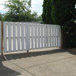 173 custom vinyl gate, Salem, Oregon