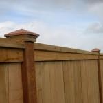 169 Cap & trim privacy fence with decorative post caps