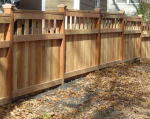 168 Custom wood fence