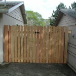 167 custom wood good neighbor gate