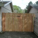 167 custom wood good neighbor gate